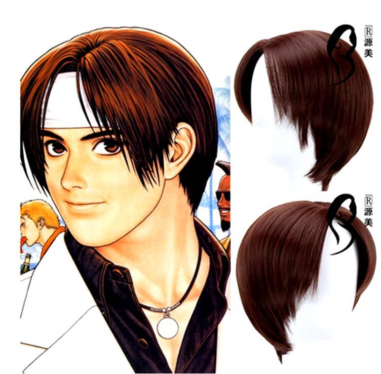 Cosplay men hair wig Kyo Kusanagi/ready stock/ rambut palsu/ brown