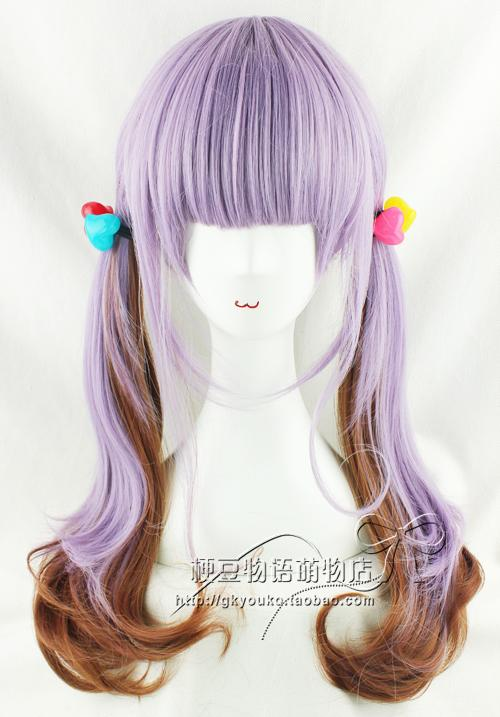 Cosplay Ombre wig Om25/ /ready stock/ rambut palsu/purple brown