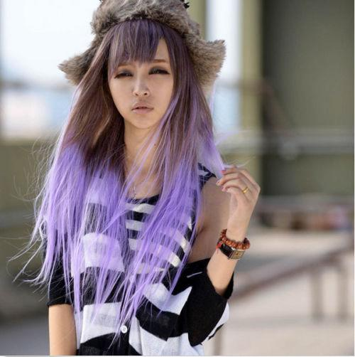 Cosplay Ombre wig OM28/ready stock/ rambut palsu/purple