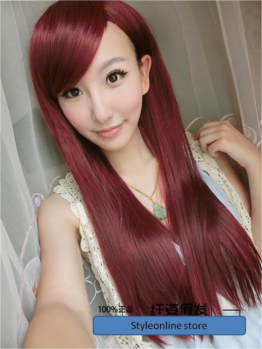 Cosplay red hair wig y1/ ready stock/ rambut palsu//OFFER