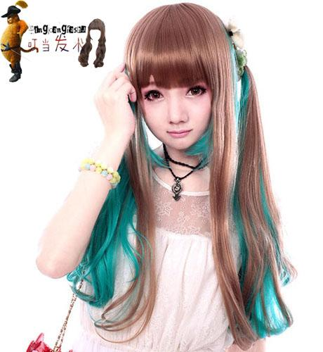 Cosplay wig Ombre wig OM42/ ready stock/ rambut palsu/green