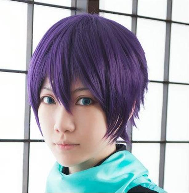 Cosplay wig101/ purple/rambut palsu/ ready stock