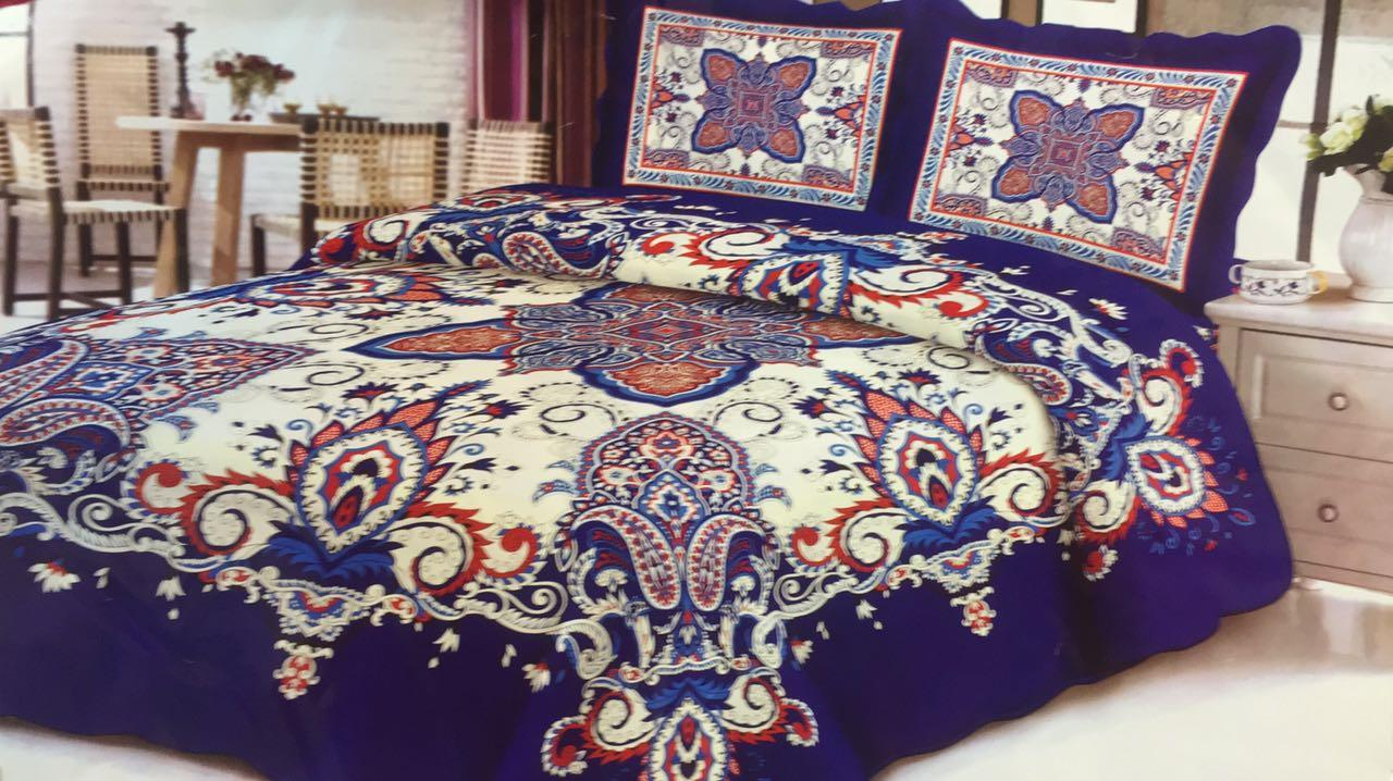 Cotton 80% Cadar Patchwork Super Queen  Set 3in1-D14