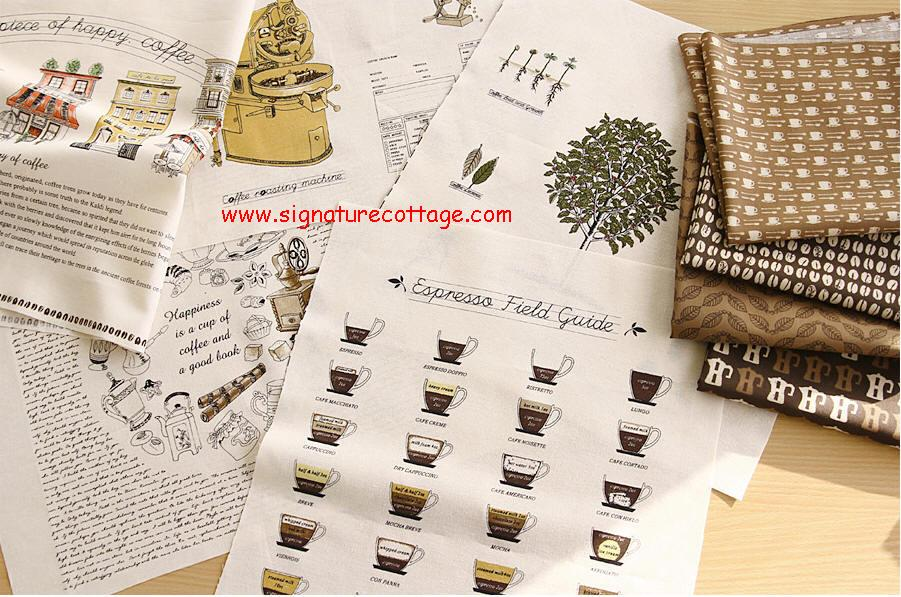 Cotton Linen Fabric Panel - My Cafe House