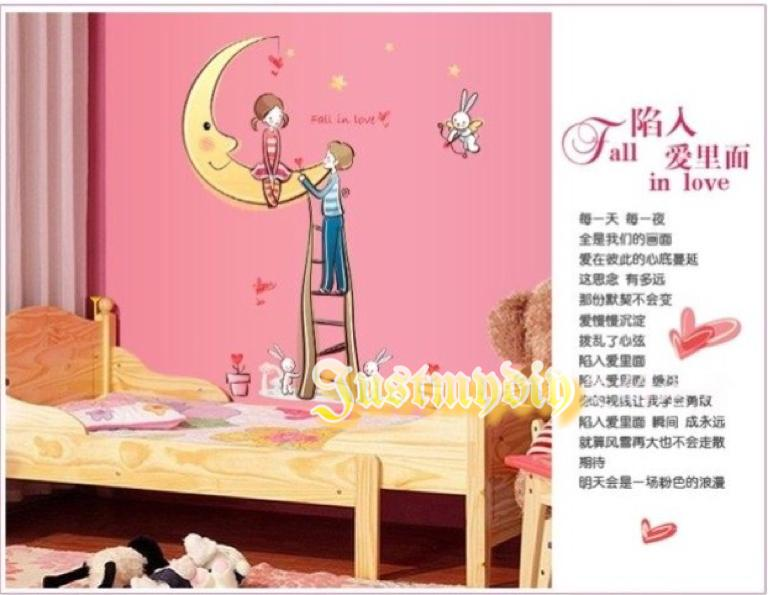 Couple Story Moon Home Decoration Wall Stickers