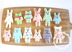 Craftholic Rabbit & Brear Cookies Cutter Cookies Mould 4pcs/set