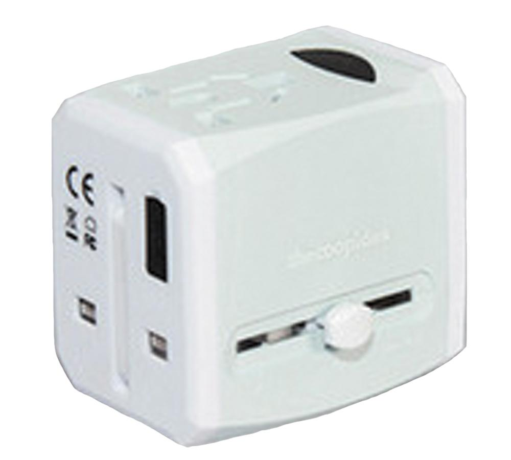 Crate® 2 USB 2.4A Universal Travel Adapter | Grey