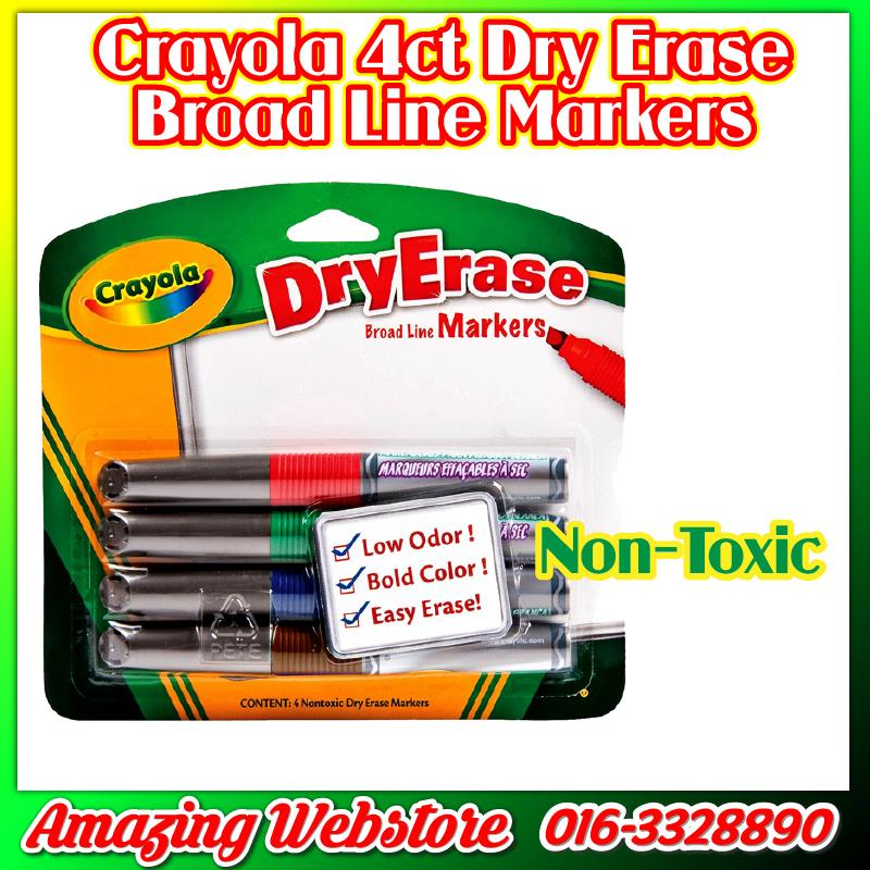 Crayola Dry Erase Markers Series - 4ct Broad Line Markers