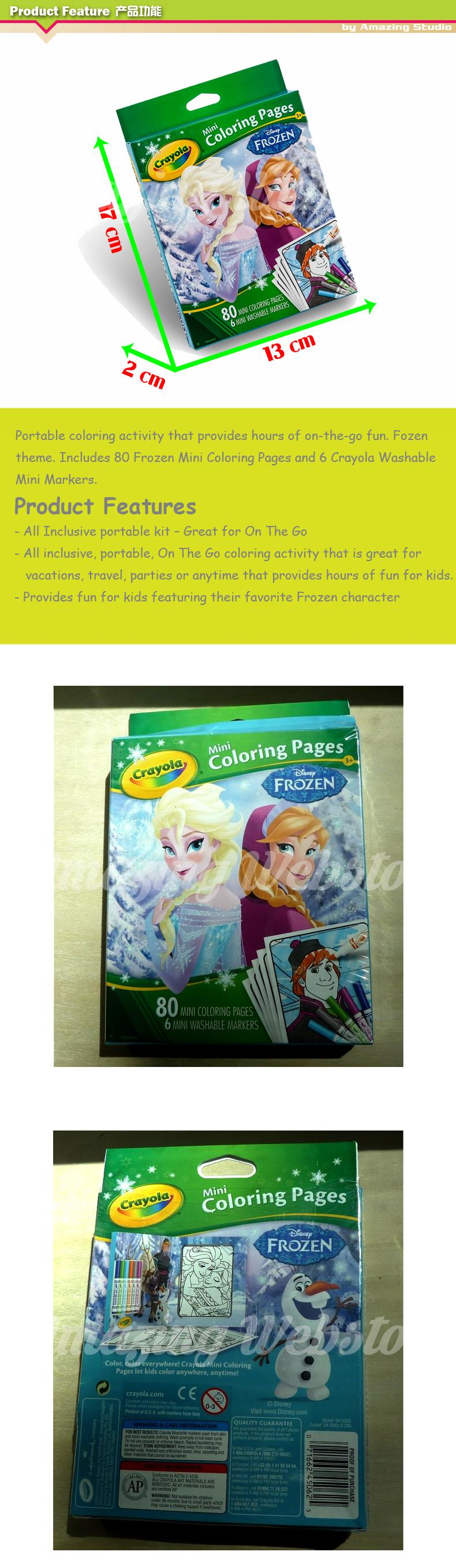 Crayola Mini Coloring Pages Series - Disney Frozen
