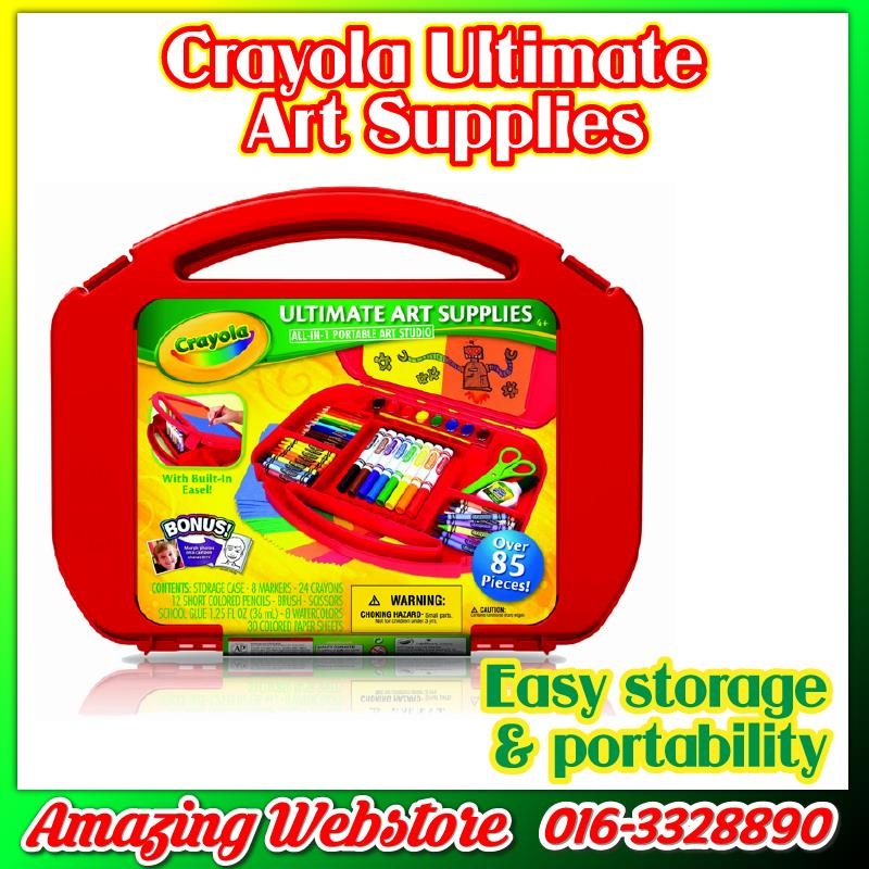 Crayola Ultimate Art Supplies Box Set - All in One Portable Art Studio