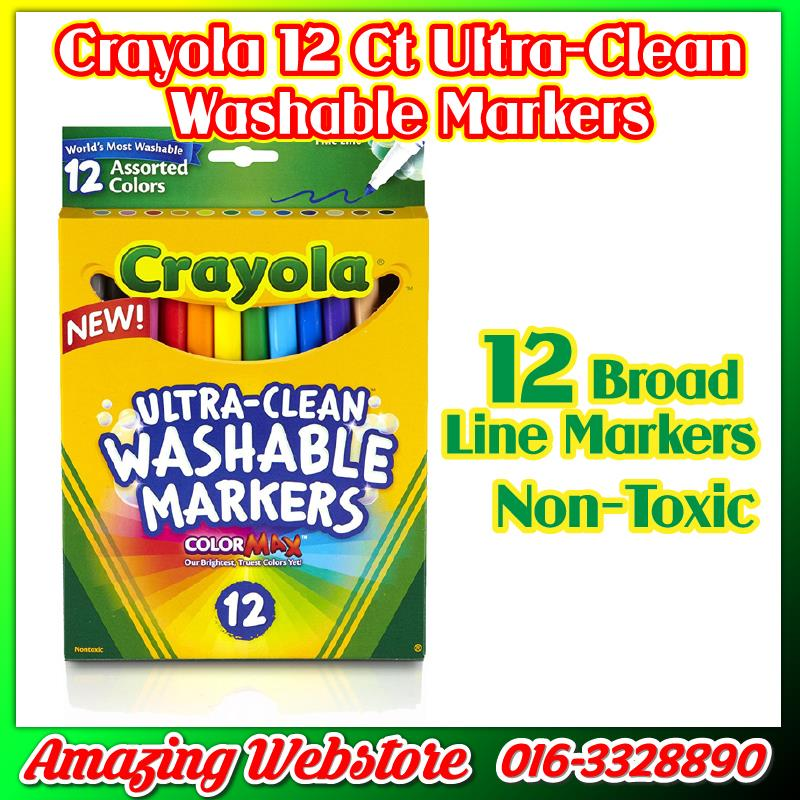 Crayola Washable Markers Series - 12ct Broad Line UltraClean Markers