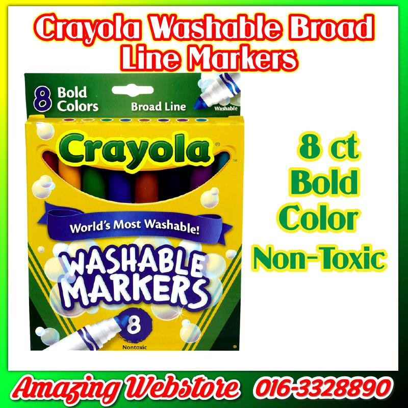Crayola Washable Markers Series - 8ct Broad Line Bright Colors Markers