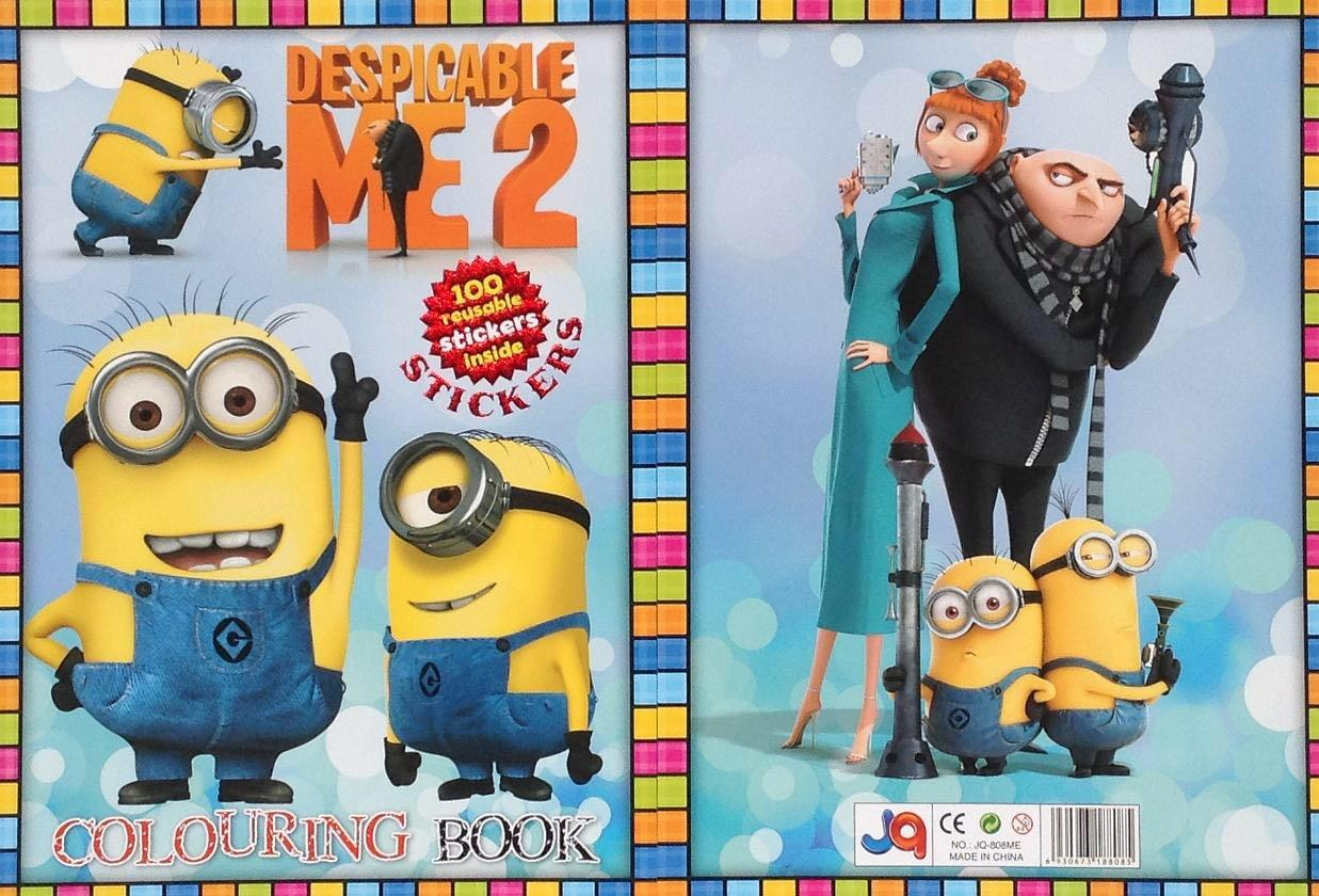 Crazy Sale - Despicable ME Colouring Book with Stickers B