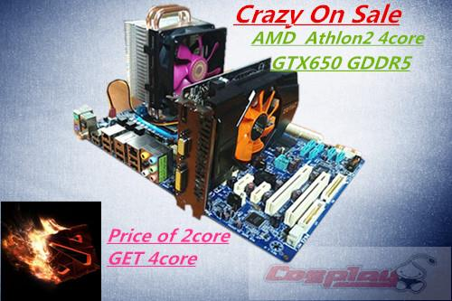 Crazy on Sale Price of 2core GET 4core Gaming Desktop 4Core  4Gb Ram