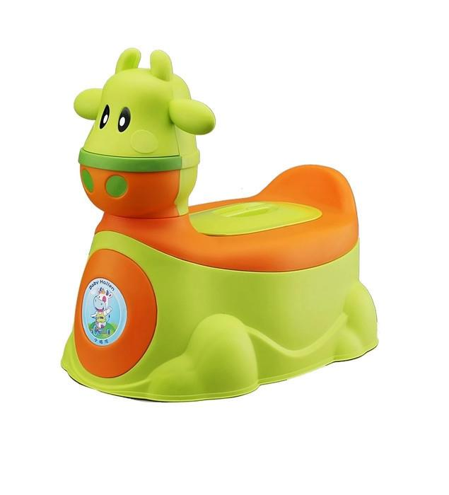 Creative 2 in 1 Cow Car with Potty Training (Green)