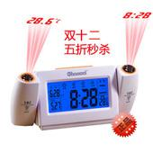 NEW--CREATIVE DUAL PROJECTION ALARM LED CLOCK WITH LUMINOUS LOVELY VOI