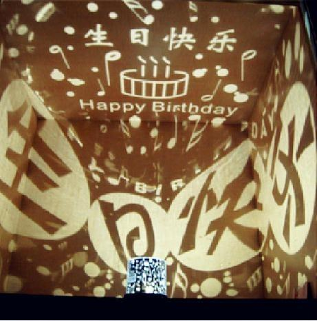 Creative Happy Birthday Star Projector Lamp