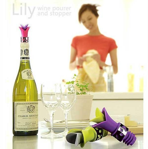New Creative Lily Wine Pourer And Stopper