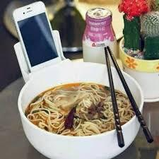 Creative Noodle Bowl Tableware 2L Large Melamine Mobile Phone Holder N
