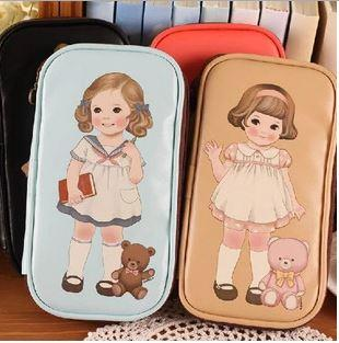 Creative Retro Cute Doll Pencil Case
