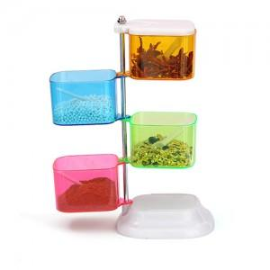 Creative Rotary 4 Layer Seasoning Box (with spoon)