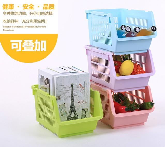 Creative Stackable Storage Rack with Roller
