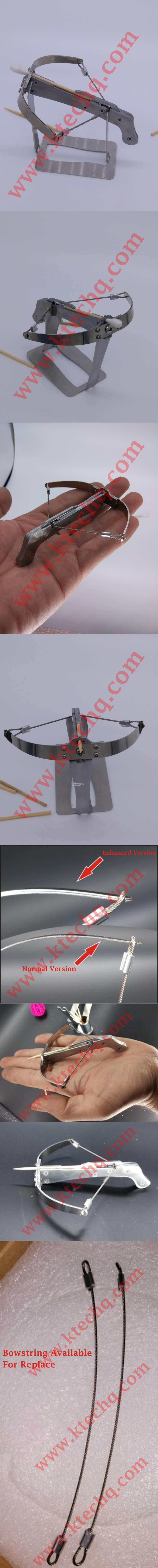 Creative Toothpick Mini Crossbow Child Toy Game Car Decor Shooting Bow