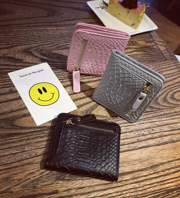 Crocodile pattern wallet female short paragraph wallet