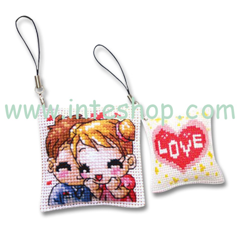Cross Stitch Handphone Mobile Phone Straps DIY Gifts