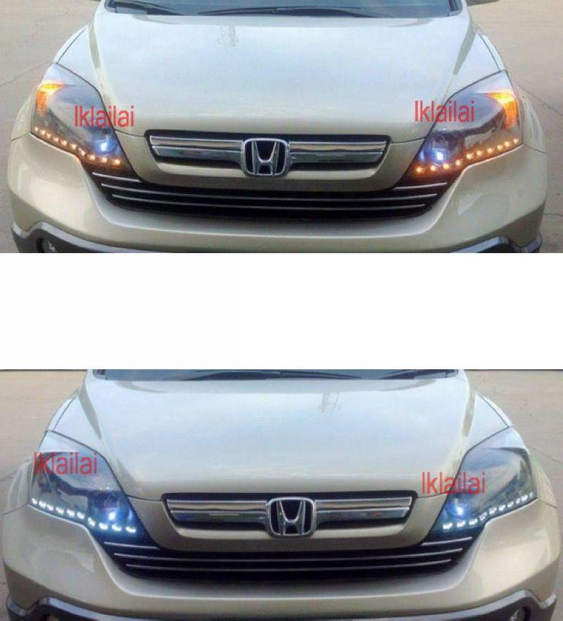CRV 07 Head Lamp 2-Function Eye Brown DRL [NO Head Lamp]