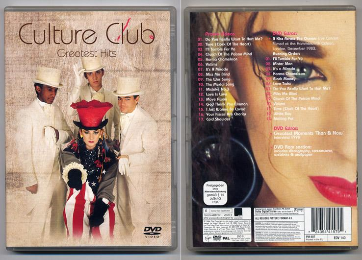 Culture Club 'Greatest Hits' UK DVD