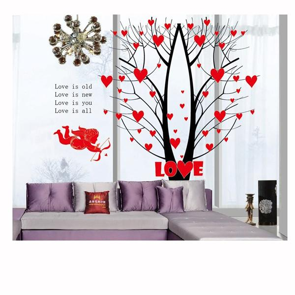 Cupid arrow love tree wall stickers a end 4 5 2017 5 15 pm for Diy tree wall mural