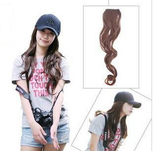 Curl Curly Hair Wig Clip DARKBROWN