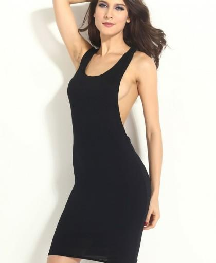 Cut out Backless Bodycon Midi Dress #lc6339