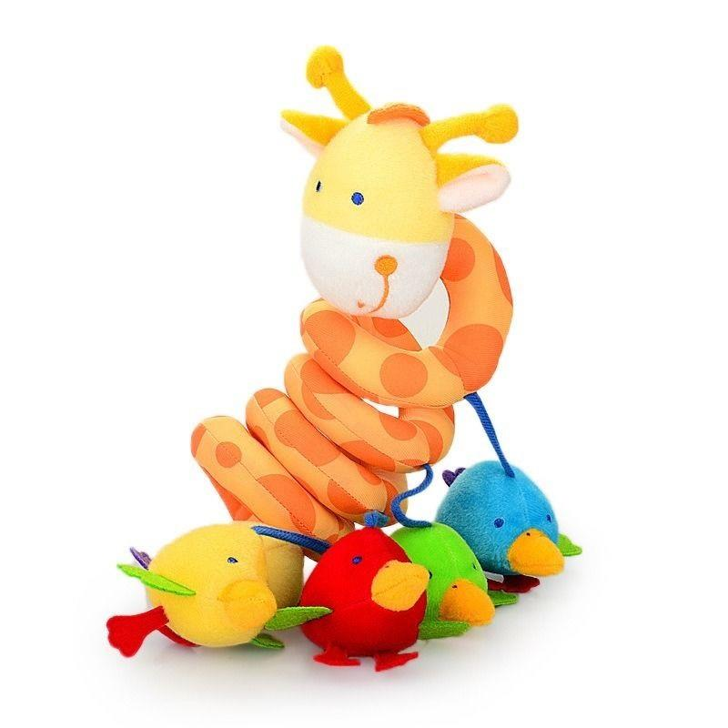 Cut Giraffe Baby Cot Spiral Hanging Soft Toys For Bed Or Strollers