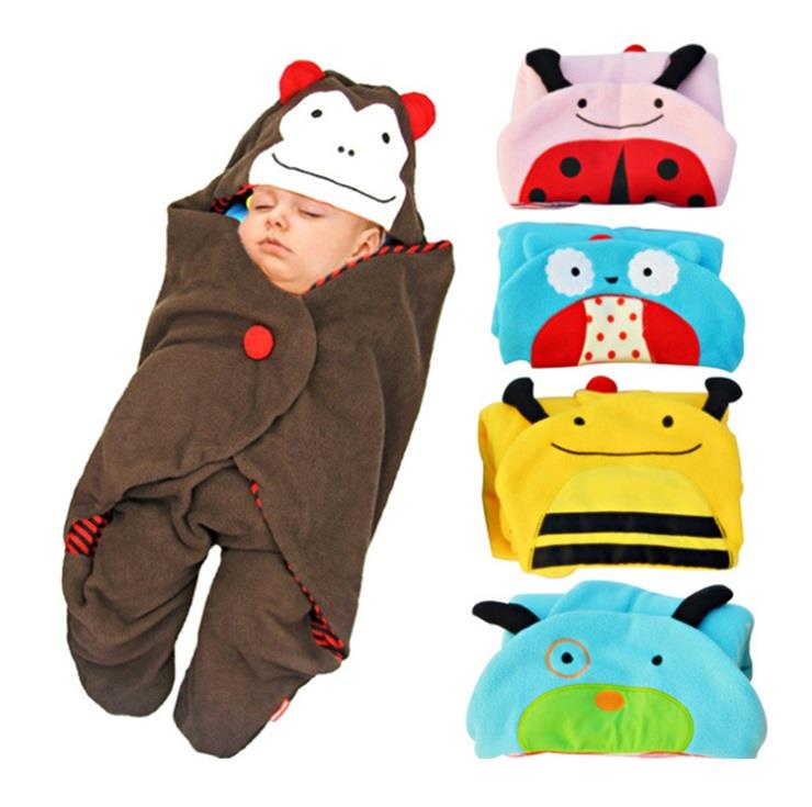 Cute Animals Soft Cotton Swaddle Blanket Wrap (Bedung)