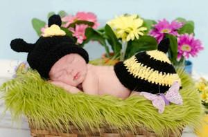 Cute Baby Infant Bee Newborn Costume Photo Photography