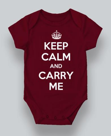 Cute Keep Calm & Carry Me Baby Romper