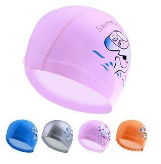 Cute Cartoon Kids PU Waterproof Swim Cap