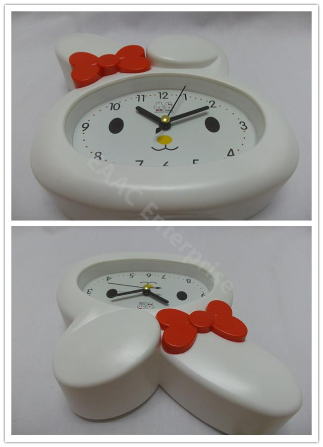 Cute Cartoon Melody White Rabbit Alarm Clock for Kids