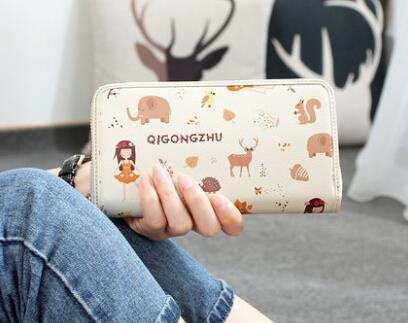 Cute cartoon print wallet wallet card package