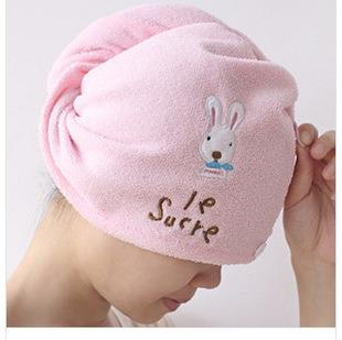 Cute Cartoon Rabbit Absorbent Hair Drying Cap