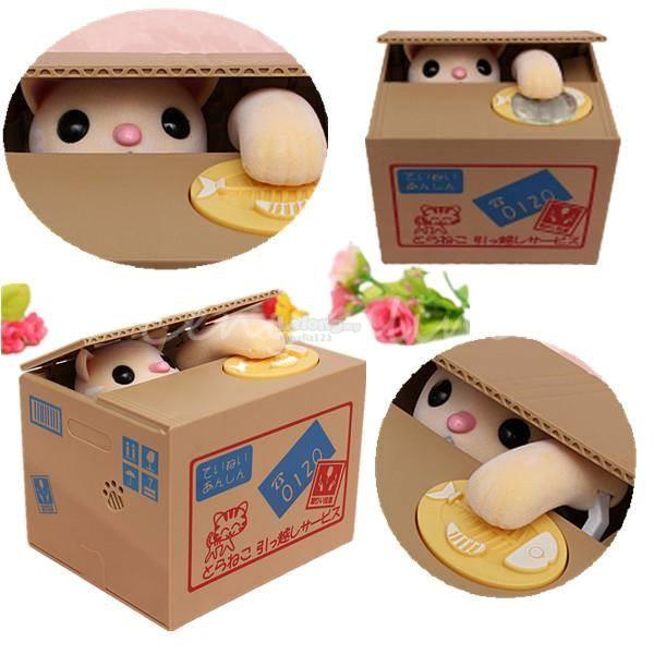 Cute Cat Coin Saving Box