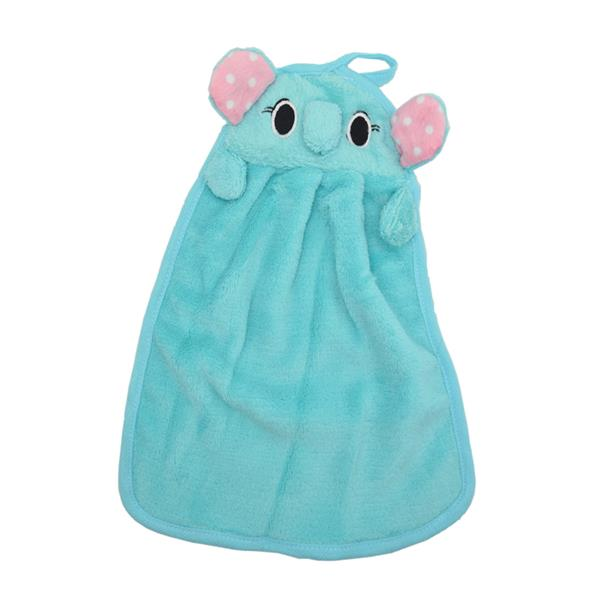 Cute Elephant Fiber Kitchen Rag (Blue)