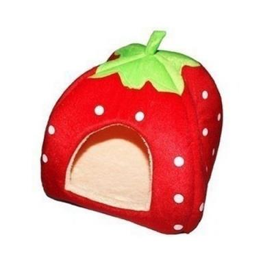 Cute Lovely Soft Super Cool Sponge Strawberry Pet Cat Dog House Bed Si