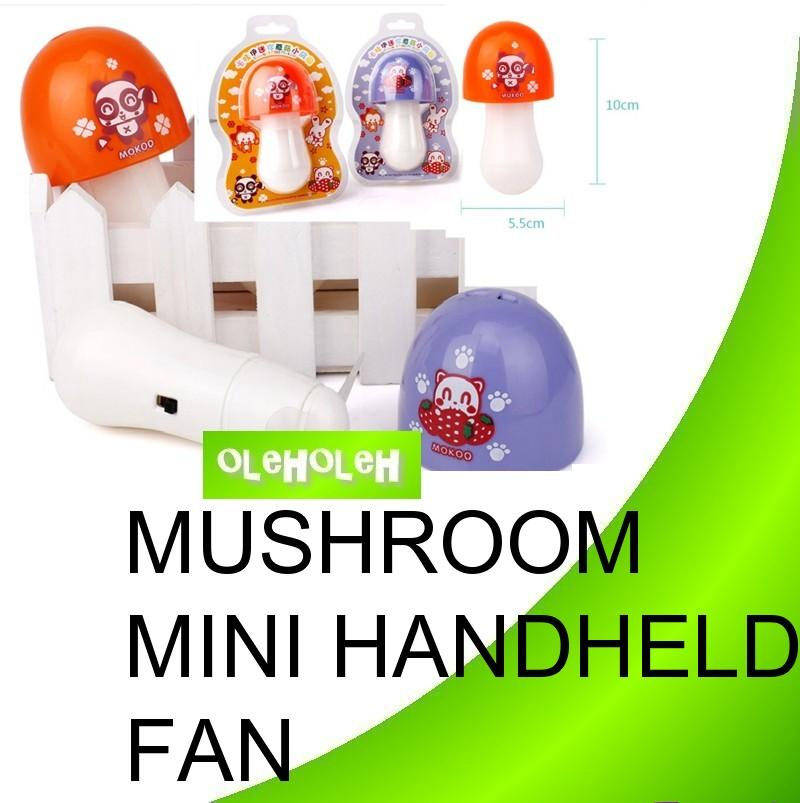 Cute Mushroom Mini Handheld Electrical Portable Fan