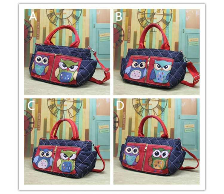 Cute Owl Sling Bag-BPL3755RED