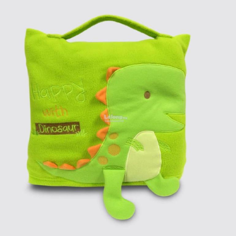Cute Pillow For Kid : Cute Pillow Blanket for Baby and Kids Green Little Dinosaur 11street Malaysia - Bedding
