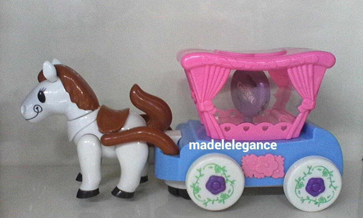 Cute Pony Light Carriage Toys For Kids Children