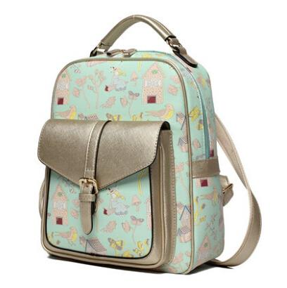 Cute printed shoulder bag female popular backpack